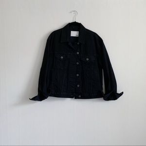 NWT aritzia bishamber black denim jacket